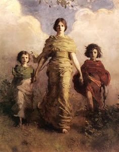Abbot Handerson Thayer: Mary, Jesus and John the Baptist