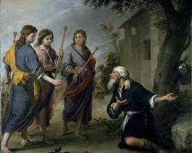 Murillo: Abraham Receiving the Angels