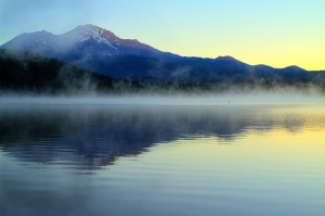 Misty Fog on Mount Shasta, USA