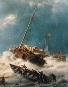 Andreas Achenbach: Ships in a Storm on the Dutch Coast