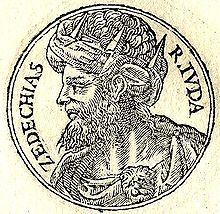 Zedekiah from Guillaume Rouillé's Promptuarii Iconum Insigniorum, 1553