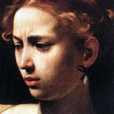 Caravaggio: Judith Beheading Holofernes (detail)