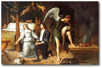 Jan Steen: Tobias and Sarah on their Wedding Night