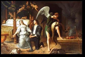 Jan Steen: Tobias and Sarah on their Wedding Night