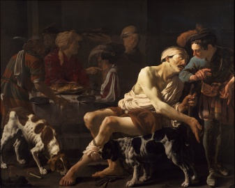 Hendrick ter Brugghen: The Rich Man and the Poor Lazarus