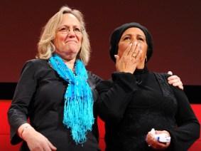 Phyllis Rodriguez and Aicha el-Wafi
