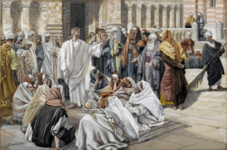 James Tissot: The Pharisees Question Jesus