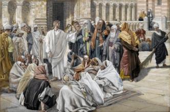 James Tissot: The Pharisees Question Jesus