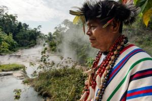 Maestro Juan Flores runs the healing center at the Mayantuyacu Boiling River