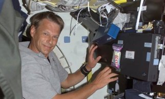 Piers Sellers aboard the International Space Station