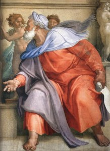Michaelangelo: The Prophet Ezekiel (The Sistine Chapel, The Vatican)