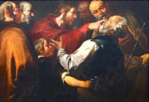 Christ Healing the Blind Man at Bethsaida: Gioacchino Assereto