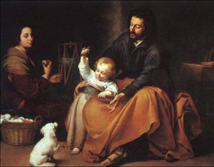 Murillo: The Holy Family with a Little Bird