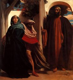 Frederick Leighton: Jezebel and Ahab met by Elijah