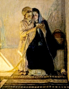 Tanner: Christ and his Mother studying Scriptures