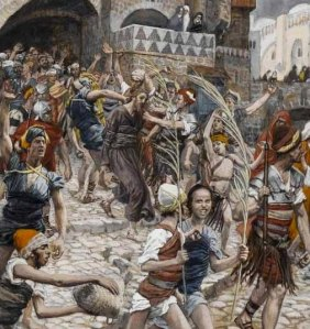 James Tissott: Jesus led from Caiphas to PIlate