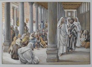 Tissot: Jesusu Walks in the Portico of Solomon