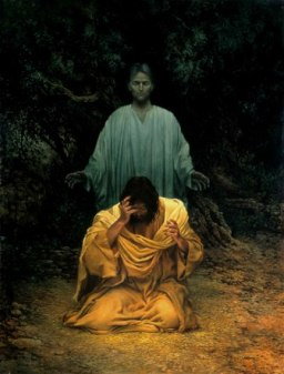 Jesus and the Angel in Gethsemane