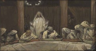 James Tissot: The Appearance of Christ in the Cnacle or Upper Room