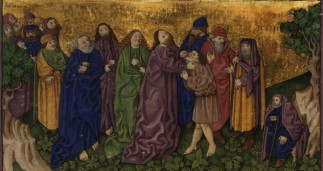 Ottheinrich Folio: Jesus Heals a Man who is Deaf and Mute