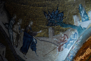 St. Saviour Church - Chora, Istanbul, Turkey: Jesus heals Two Blind Men