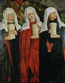 Mikołaj Haberschrack: The Three Marys, Mary Magdalene, Mary mother of Clopas, Mary mother of James