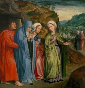 Quentin Metsys: John the Evangelist and the Three Women at the Tomb of Christ