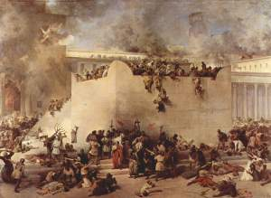 Francesco Hayez: Destruction of the Temple in Jerusalem