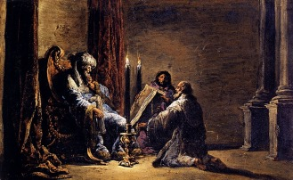 Leonaert Bramer: The Scribe Shaphan Reading the Book of the Law to King Josiah
