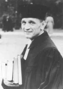 Martin Niemöller, a prominent Protestant pastor who opposed the Nzai regime