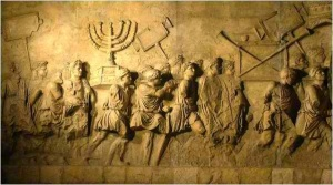 The symbols of Jewish worship carried off by conquerors