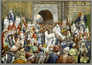 James Tissot: Jesus Raising the Son of the Widow at Nain
