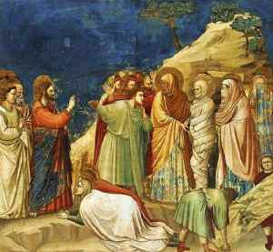 Giotto di Bondone: The Raising of Lazarus