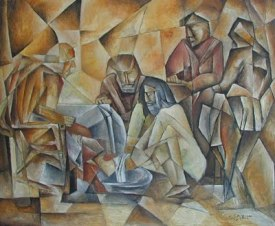 Michal Splho: Jesus washing the Feet of his Disciples