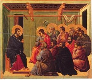 From the Maestà of Duccio in Siena, Italy