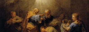 Jean Restout: Ananias Restoring the Sight of St. Paul