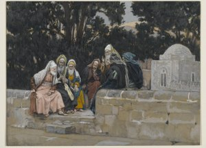 James Tissot: The Pharisees and the Herodians Conspire Against Jesus
